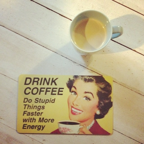 Good Morning :)#domorestupidthings #coffee #goodmorning #smile