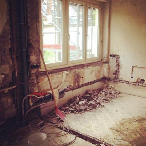 Welcome to our new kitchen #kochenwirdüberbewertet #küche #sanierung #beforeandafter