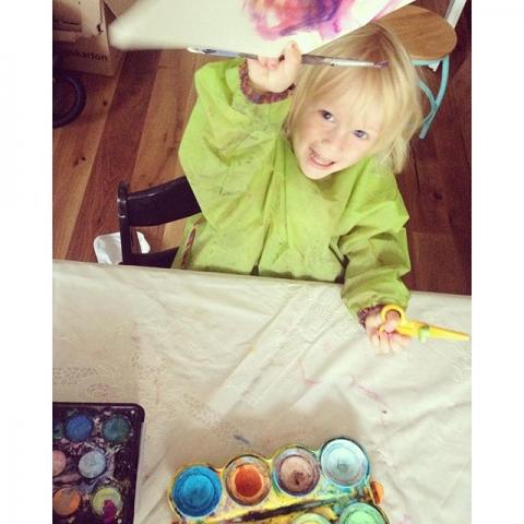 Viel zu früh  aber malen geht ja immer ... #love #sweetpaul #malen #kleinemenschen