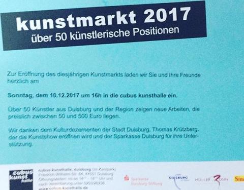 Sonntag ist es wieder soweit und der alljährliche Kunstmarkt startet hier bei uns! Kommt zahlreich!! #cubuskunsthalle #kunstmarkt #artmarkt #2017 #art #buyart #artofinstagram #artist #artforsale #heartforsale