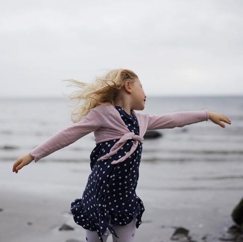 Dancing at the Beach.