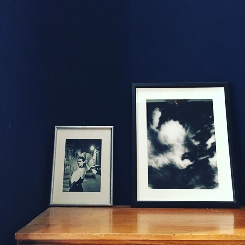 Helmut Newton and me together in my bedroom #newton #photoart #palomapicasso #mood #bluebedroom