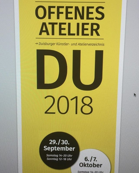 Kommt uns im Künstlerhaus in Rheinhausen besuchen! Wir freuen uns auf euch! #duisburg #art #offenesatelier #kfzrheinhausen