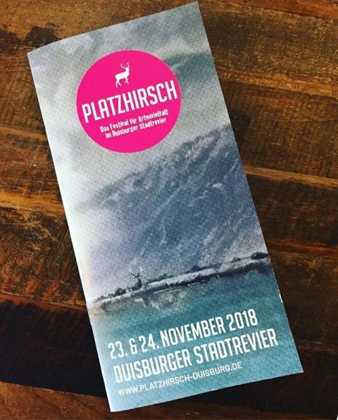 23.&24.11. Platzhirsch Festival in Duisburg - das Festival für Artenvielfalt. Kommt vorbei! #platzhirsch #duisburg